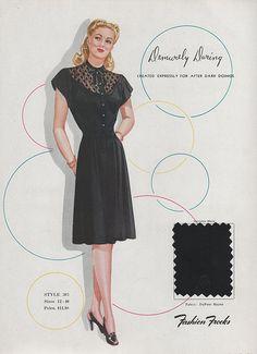 Fashion Frocks this dress. 1940s Dresses, Vintage Dresses, Vintage Outfits, 1940s Fashion, Vintage Fashion, Vintage Style, 1940s Style, Vintage Couture, 40s Outfits