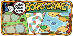 How to make your own board game Blank Game Board, Board Game Template, Printable Board Games, Dots Game, Speech Therapy Games, Book Report Templates, Make Your Own, Make It Yourself, Board Game Design