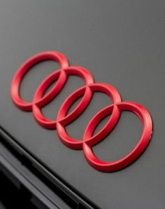 #Audi #Logo #red #FourRings #color