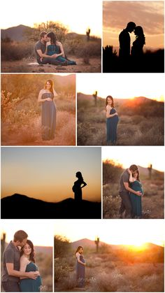 Create an outdoor desert couples maternity session they'll never forget | Phoenix, Arizona Maternity Photographer | Malia B Photography | www.maliabphotography.com