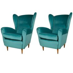 Mid-Century Modern Pair of Armchairs in the Style of Paolo Buffa
