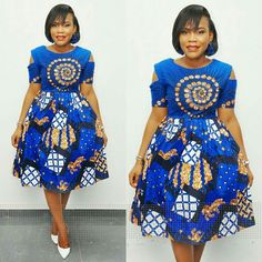 Short Ankara Dresses for Weddings. Ladies, here are essential ankara short gowns you'll love and will wow people around you. African Dresses For Women, African Print Dresses, African Attire, African Wear, African Fashion Dresses, African Women, Ghanaian Fashion, African Prints, Ankara Short Gown Styles