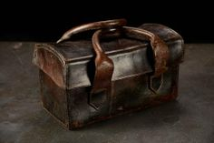 Exceptional vintage English #leather #work #bag available at #Houston #Mecox #interiordesign #MecoxGardens #furniture #shopping #home #decor #design #room #designidea #antiques #garden