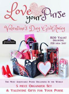 PursePacks Valentine Purse Organizer Set Gift GIVEAWAY! enter to win: https://www.pursepacks.com/giveaways/pursepacks-valentine-purse-organizer-set-gift-giveaway/?lucky=853