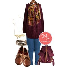 Fireside by Side Sweater by modcloth on Polyvore featuring Herschel Supply Co.