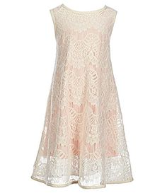 Copper Key Little Girls 46X Lace Trapeze Dress #Dillards
