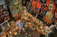 Clive Barker's home art studio... <3