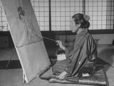 Artist Mrs. Shoen Uemura Painting Picture by Dmitri  #artist #japanese