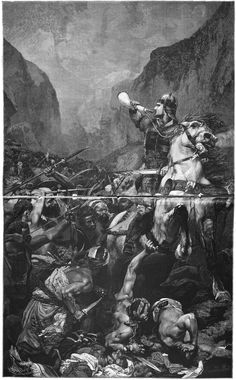 """15 August 778, the Battle of Roncevaux (Roncesvalles) Pass was fought in the Pyrenees 40 miles North of Pamplona, inspiring the medieval chanson de geste, """"The Song of Roland"""" and Ariosto's """"Orlando Furioso""""."""