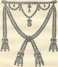 the diamond necklace affair.... with PONY BEADS