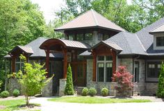 Luxury home in The Cliffs at Walnut Cove, Asheville, NC / Architect Garry Price of Design Elite, Greenville, SC