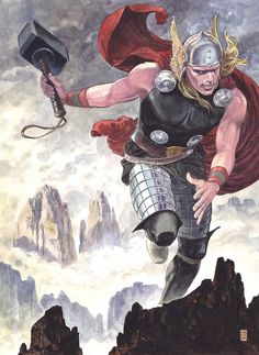THOR: GOD OF THUNDER #25 AVENGER THOR MANARA VARIANT/Search//Home/ Comic Art Community GALLERY OF COMIC ART