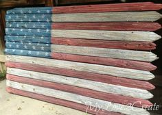 Hometalk:  7 Homemade American Flag Projects