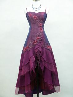 Cherlone Purple Ballgown Prom Bridesmaid Formal Wedding/Evening Dress Size 16-18