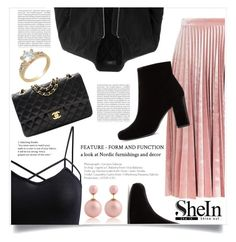 """""""Chenille"""" by violet-peach ❤ liked on Polyvore featuring Yves Saint Laurent, Topshop, LE3NO, Chanel and Oris"""