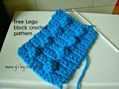 Mama G's Big Crafty Blog: Free Crochet Lego Block