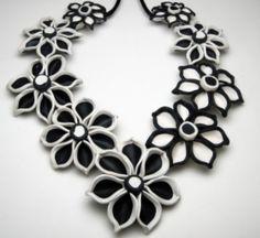 Polymer Clay Designs Daisy collar