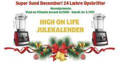 Jeg deltager i High on Life's Julekalender om fede præmier samt daglige opskrifter og sunde alternative julegaver der giver mening. Du kan også deltage i lodtrækningen lige her!
