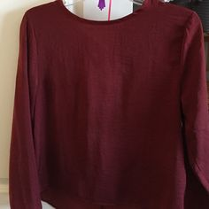 Burgundy silky blouse Burgundy silky blouse.  Boho chic style from h&m H&M Tops Blouses