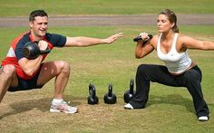 kettlebells make traditional dumbbell moves more challenging. Their weight isn't evenly distributed, so your stabilizer muscles have to work harder.
