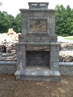 1000 Images About Charlotte Outdoor Fireplaces On Pinterest Outdoor Fireplaces Stone Columns