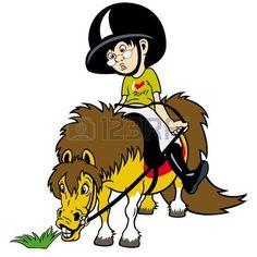 horse rider,little boy riding,equestrian sport,children illustration