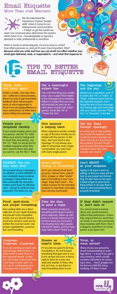 15 Tips to Better Email Etiquette #Infographic
