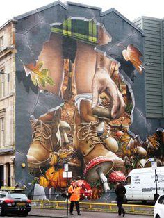 Ingram St car park Glasgow - Autumn section