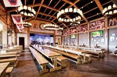 One of the most noticeable recent trends in nightlife has been the transition from small and chic (wine bars, speakeasies, and cocktail joints) to raucous and oversize—specifically, massive German-style biergartens and beer halls, which have opened in nearly every large U.S.