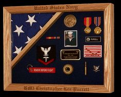 Custom & Personalized Military Retirement Shadow Box @ Shadowbox For You... for the iraq stuff?