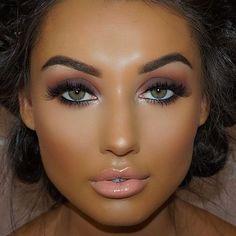 How To Get A Soft Glam Makeup Look Awesome makeup look with soft pink color tone Tan Skin Makeup, Flawless Makeup, Gorgeous Makeup, Pretty Makeup, Love Makeup, Hair Makeup, Awesome Makeup, Green Makeup, Mac Makeup Looks