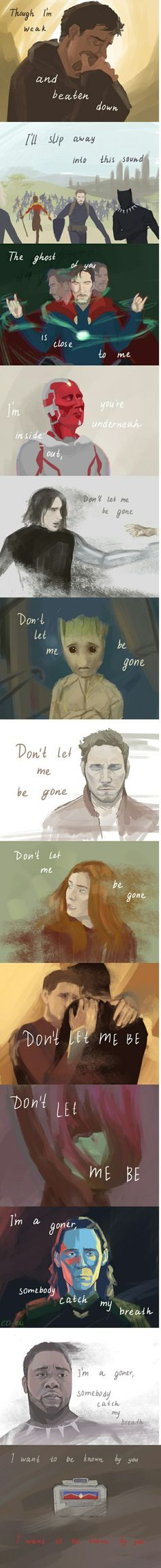Don't leave me be gone || Avengers Infinity War || Cr: the closest star