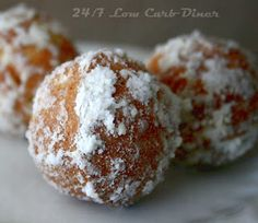 Coconut Flour Doughnut Holes (low carb, keto) | 24/7 Low Carb Diner