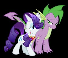 i think that they are almost the same age but dragons dragons grow at a different pace and spike just didnt hit his growth spurt yet. All My Little Pony, My Little Pony Rarity, My Little Pony Friendship, Rarity And Spike, Mlp Memes, Mlp Characters, Little Poney, Mlp Pony, Fluttershy