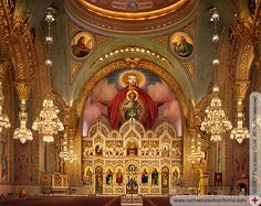 General View of Saint Sophia Greek Orthodox Cathedral, Los Angeles, CA
