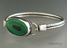 Malachite Bracelet by LjBjewelry