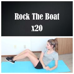 Rock the boat: twist from side to side with legs raised! (Credit: Tess Christine)