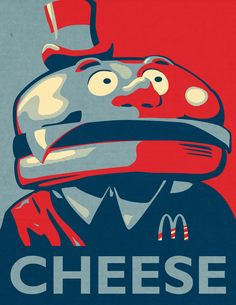 Mayor McCheese Campaign 2012 by Charles Frumerie, via Behance
