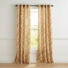 Mora Gold Curtain Encouraged to Measure curtains are more expensive when they require expert craftsm Net Curtains, Gold Curtains, Curtain Fabric, Patterned Curtains, Curtain Panels, Curtain Styles, Curtain Designs, Curtain Ideas, Curtain Headings