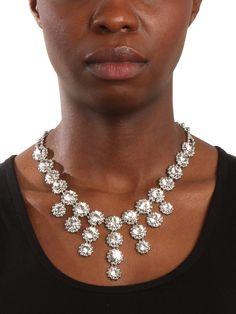 Ice Bloom Fringe Bib - Necklaces - Categories - Shop Jewelry | BaubleBar