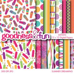 Buy 2 Sets Get 2 Sets FREE Digital Paper Pack by goodnessandfun