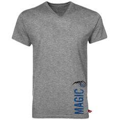 Sportiqe Orlando Magic Ash Pillar Comfy V-neck Premium T-shirt