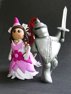 The Princess and Her Knight Cake Toppers