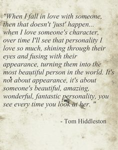 sorry world, just crying over the perfection that is Tom Hiddleston.