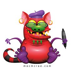This is Jack the happy purple monster brushing his teeth. Green Monsters, Little Monsters, Monster Coloring Pages, Funny Monsters, Robot Art, Robots, Space Aliens, Cute Clipart, Practical Magic