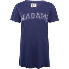 Zoe Karssen Blue Madame Oversized T-Shirt ($92) via Polyvore
