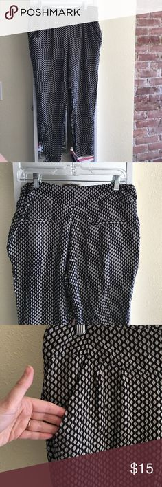 Dressy Slouchy trousers Really trendy pant. Excellent condition. Zipper on left hip. From a pet free and smoke free home. Pants