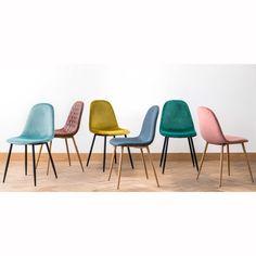 Yellow Velvet Scandinavian-Style Chair | Maisons du Monde