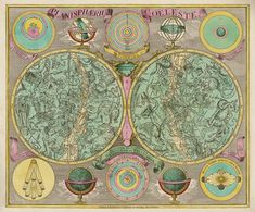 Antique ZODIAC Art Print OPHIUCHUS and SERPENT V Professional Reproduction