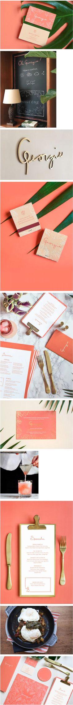 Georgie Restaurant Branding by Sandy Ley